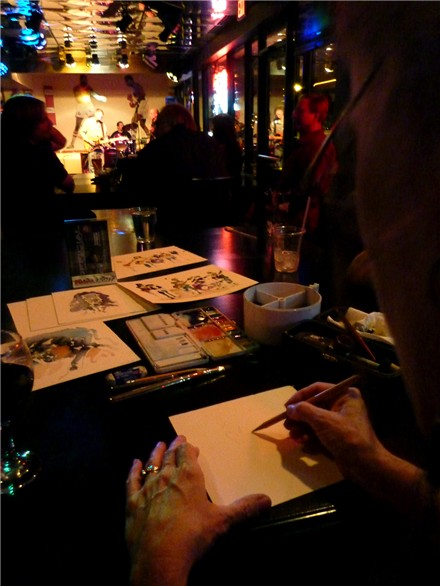 Painting at the Blues Jam