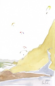 Paragliding at Mussel Rock, Pacifica, California